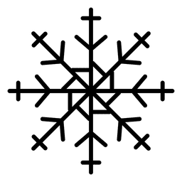 Snowflake line arrows and cross