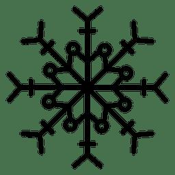 Copos de nieve línea flechas y puntos