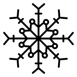 Snowflake line arrows and dots
