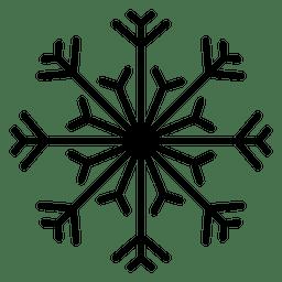 Línea de copo de nieve flechas y líneas