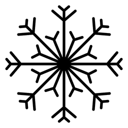Schneeflocke Linie Pfeile und Linien