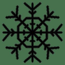 Polígono y flechas de línea de copo de nieve