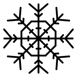 Snowflake line arrows and polygon