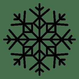 Línea de copo de nieve flechas y cuadrados