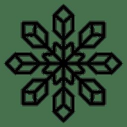 Schneeflockenlinie Würfel