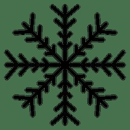 Copo de nieve linea cuatro flechas