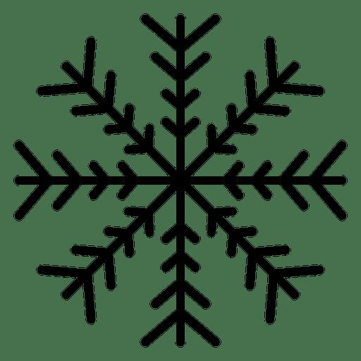 Schneeflocke Linie vier Pfeile Transparent PNG