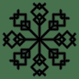 Quadrados de linha de floco de neve