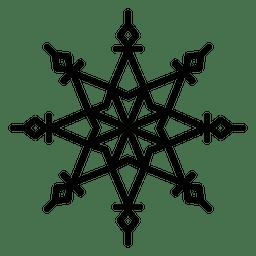 Copo de nieve linea estrella