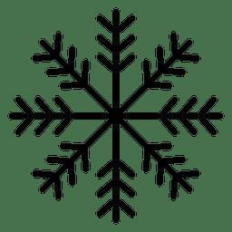 Schneeflocke Linie drei Pfeile