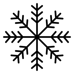 Snowflake line three arrows