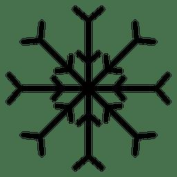 Línea de copo de nieve dos flechas