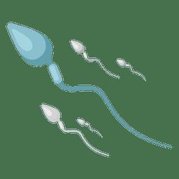 Ilustración de espermatozoide