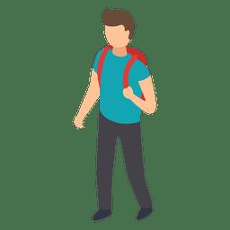 Ilustração de mochila de estudante