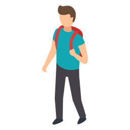 Student backpack illustration