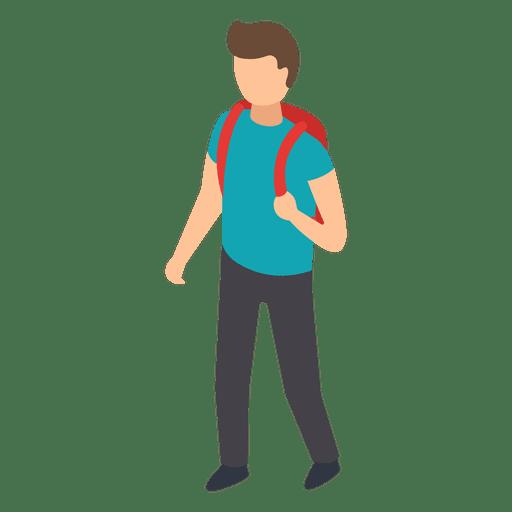 Student backpack illustration