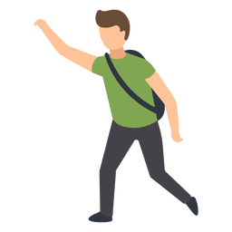 Ilustração de mão ascendente de estudante