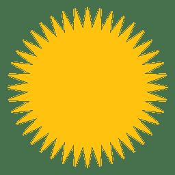 Sonne gefüllt scharfe Strahlen-Symbol