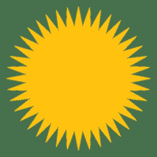 Sun filled sharp beams icon