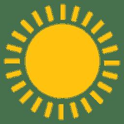 Icono de rayos de línea grande de sol