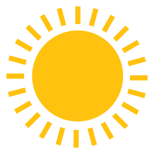 Sun large line beams icon