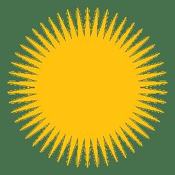 Ícone de sol grande feixes aguçados