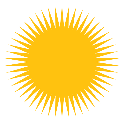 Sun large sharp beams icon