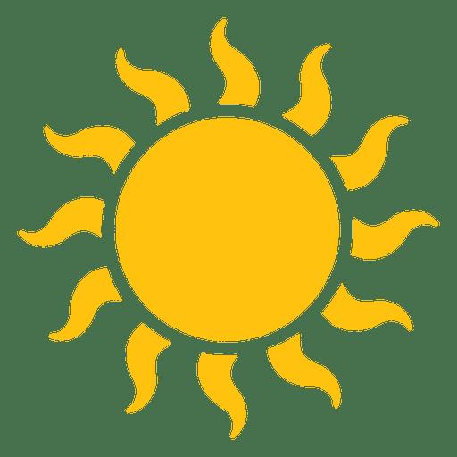 Ícone de grandes feixes ondulados do sol