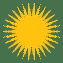Sol medio icono de rayos agudos