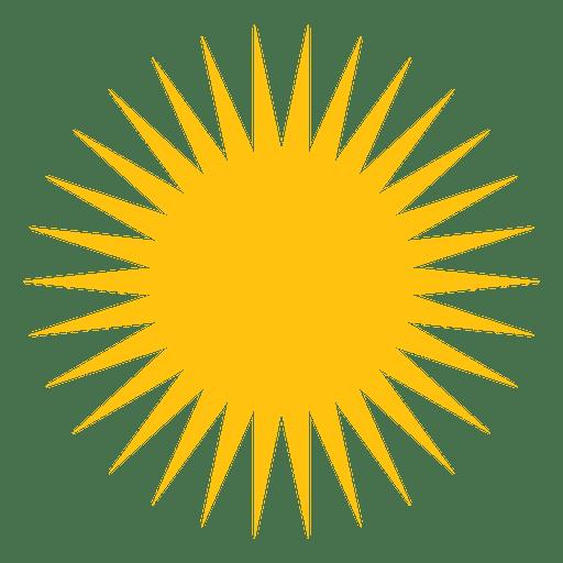 Sun medium sharp beams icon