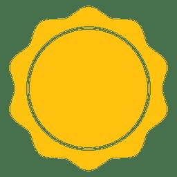 Icono de rayos redondos de sol.