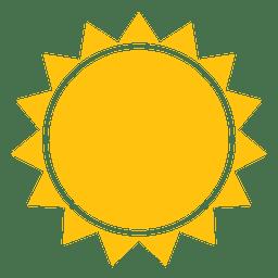 Icono de rayos agudos del sol