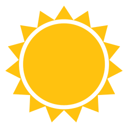 Sun sharp beams icon