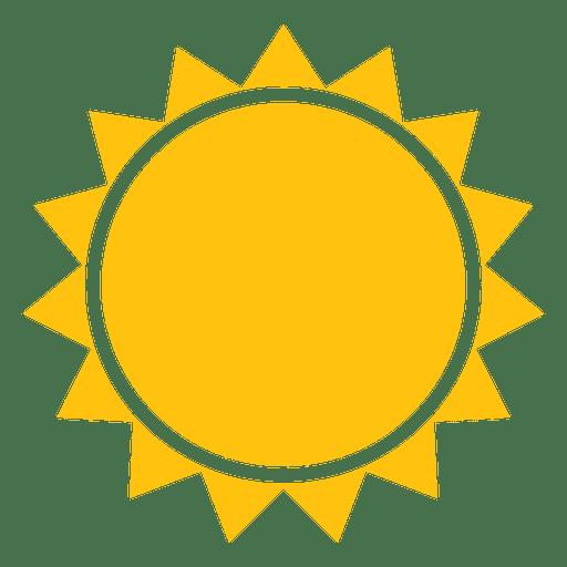 Sun sharp beams icon