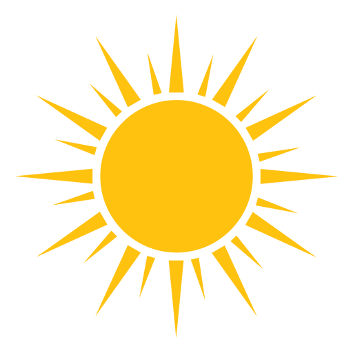 Sun sharp rays big and small icon