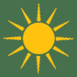Sol, afiado, raios, grande, ícone