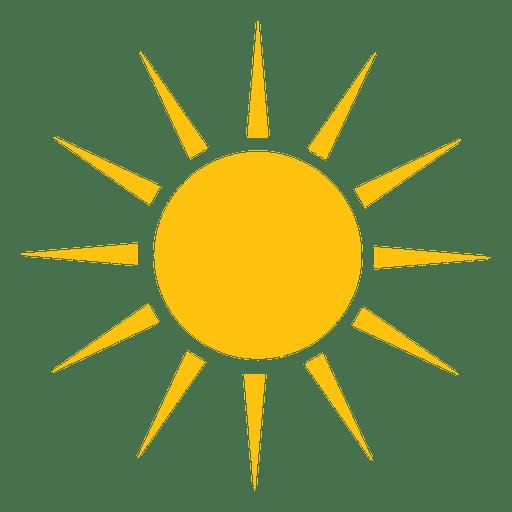 Grande ícone de raios nítidos de sol