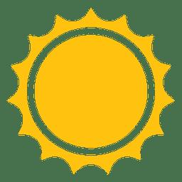 Sol rayos agudos icono