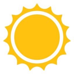 Sun sharp rays icon
