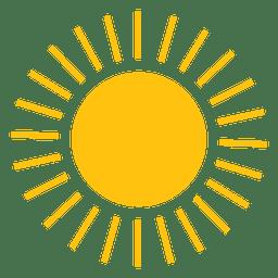 Icono de pequeñas líneas de sol