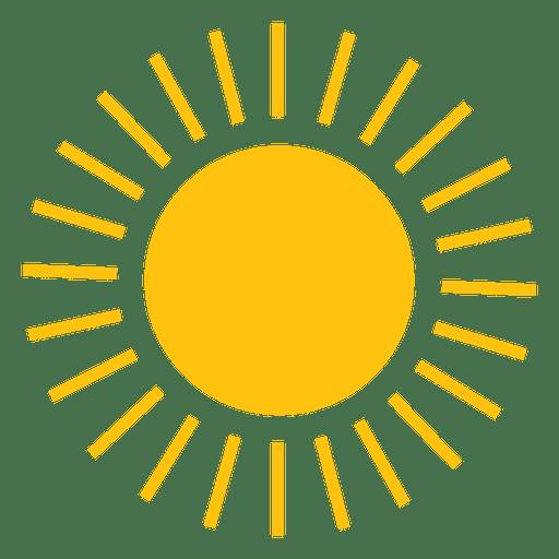 Sun small line beams icon