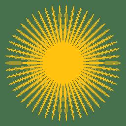 Sol pequeno ícone de vigas afiadas