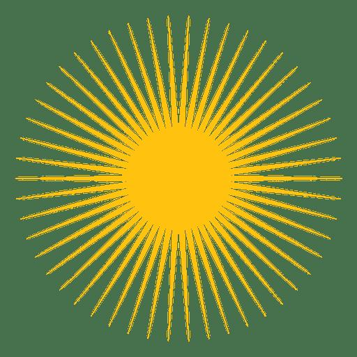 Icono de peque?os rayos afilados de sol