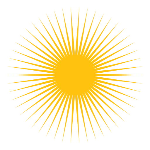 Sun small sharp beams icon - Transparent PNG & SVG vector