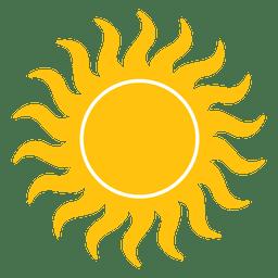 Icono de pequeñas vigas onduladas del sol.