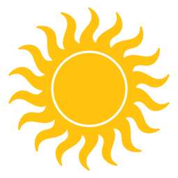 Sun small wavy beams icon