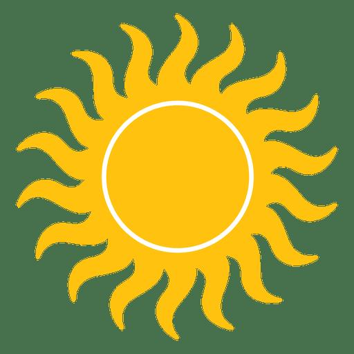 Icono de pequeñas vigas onduladas del sol. Transparent PNG