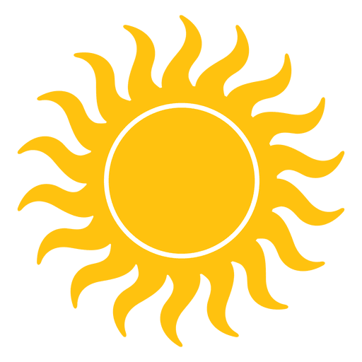Sun small wavy beams icon