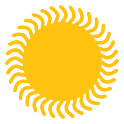 Sun wavy beams icon