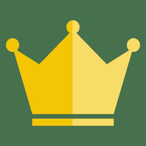 Corona de tres puntos icono grueso